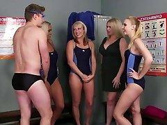 Stud joins the swim team