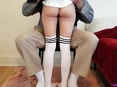 Youthful college girl learns deep lesson while getting tutored at home.
