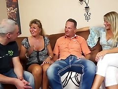 Mature married duo is happy to love swinger sex for orgasm