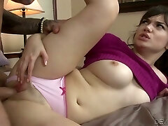 Attractive gal nailed rock-hard in a missionary position