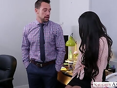 Horny boss Johnny Castle fucks adorable young assistant Brenna Sparks