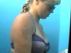 Voyeur cam in beach cabin