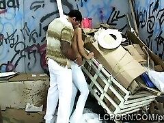 Gorgeous Brazilian model works as prostitute in wild alley