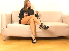 Cuckold get feet and she get cock
