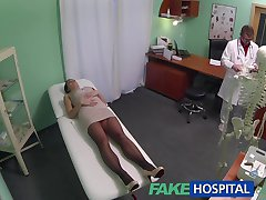 FakeHospital Naughty mum has body image problems cured by docs cock