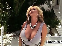Busty blonde babe goes crazy rubbing part2