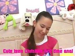 Cute teen Christina first time anal