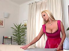 Housekeeper with big tits