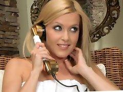 Sophie Moone blindfolds hot lesbian babe Brandy Smile