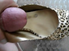 jerk and cum on high heels