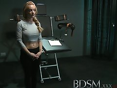 BDSM XXX Big breasted subs are tied up and pumped before squirting