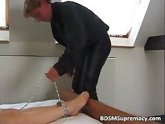 Cruel dude has two naked moms for fun part4