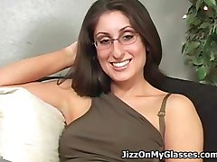 Sweet College Girl Dasha Loves Cum All Over her Glasses