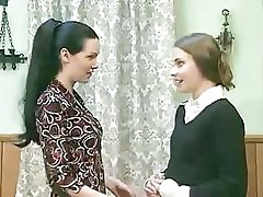 Good dark-haired girl starts behave very badly when she feels friend's wet twat