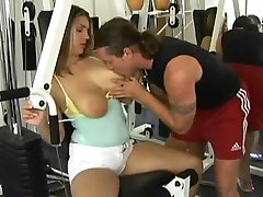 Fleshy Blond Assfucked In The Gym S88
