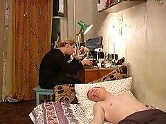 Russian Mom With boy