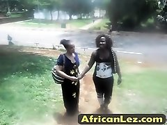 Lesbians sandrine and grace play around together