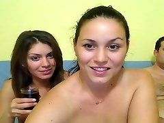 Fat Guys and Hot Girls Webcam Gang-bang at Home