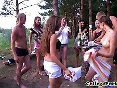 Teens Dulsineya and Pleasure Button outdoors