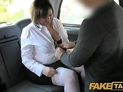 Fake Cab Back seat anal for curvaceous lass