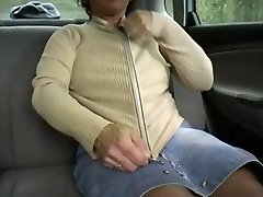 Redhead-BBW-Granny Outdoors in a Van by 2 Dudes