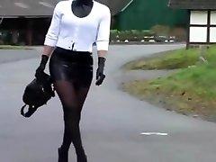 Spandex Maid Luder # Scheiss Transvestitenschweine totpressen und verbrennen