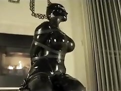 Latex bondage ejaculation