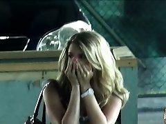 Penetrating a hot blonde at a public wc