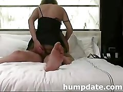 Wife inserts toy in ass while she gets fucked