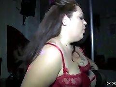 2 fat matures make a show into a club