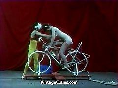 Beautiful Girl is Riding a Hump-bike