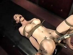 Natalie roped and machine pummeled