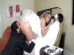 Alanah Rae is a hot bride who gets a large manstick for her delectation