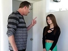 Hot Step-Daughter Punished After Partying
