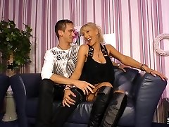 SexTape Germany - EMO delight with a German BBW fucking a freaky dude dressed as a maid