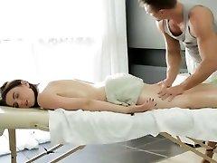 Big jug Russian girl gets a sensual massage