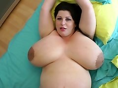 biggest breasts ever on a 9 month preggie milf