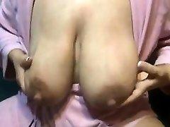 Lactating mom huge puffies Vivan from onmilfcom
