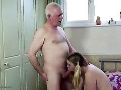 Elderly parent fucks young daughter