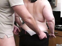 Husband caught cuckold with fat mega-bitch