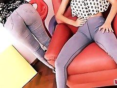 BIG-BUTT & Cameltoe In Jeans. The Denim