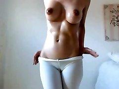 Hot stunner big boobs tits dark nips hairy cameltoe pussy