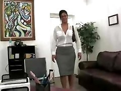 Breasty Secretary Drilled In The Office