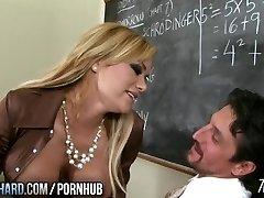 Hot cougar fucks instructor