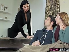 Hot stepmom Jasmine Jae walked in and wished to lend a forearm