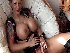 Tattooed German Female with big Tits gets romped