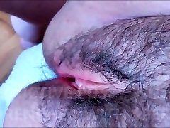 HAIRY AND SEDUCTIVE LABIA WITH TENDER LIPS DRENCHED WITH SPERM