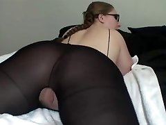 Hot Lady In Glasses Shows Off Her Excellent Bum