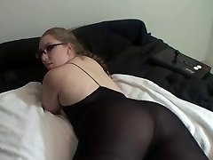 Hot Lady In Glasses Shows Off Her Superb Ass