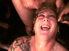 SlutRona's massive Cum Party continued